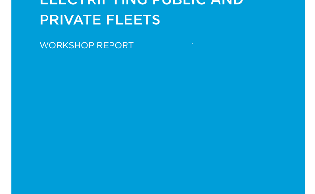 Electrifying Public and Private Fleets