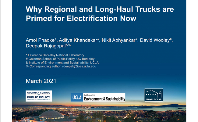 Why Regional and Long-Haul Trucks are Primed for Electrification Now