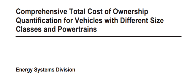 Comprehensive Total Cost of Ownership Quantification for Vehicles with Different Size Classes and Powertrains