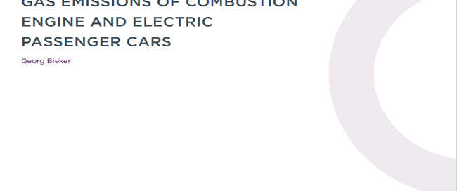 A Global Comparison of the Life-Cycle Greenhouse Gas Emissions of Combustion Engine and Electric Passenger Cars
