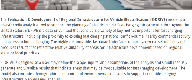 E-DRIVE: Evaluation & Development of Regional Infrastructure for Vehicle Electrification