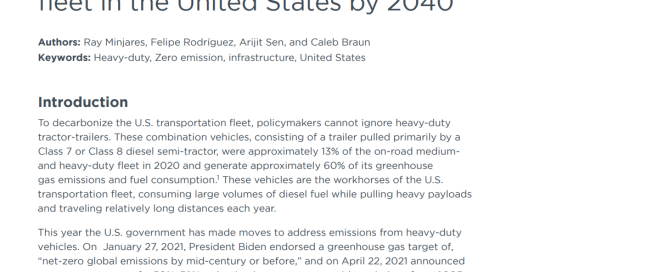 Infrastructure to support a 100% zero-emission tractor-trailer fleet in the United States by 2040
