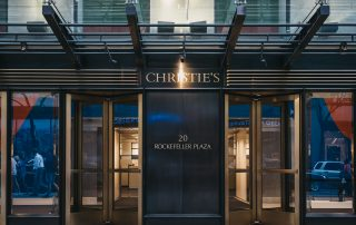 Entrance of Christie's auction house in NYC