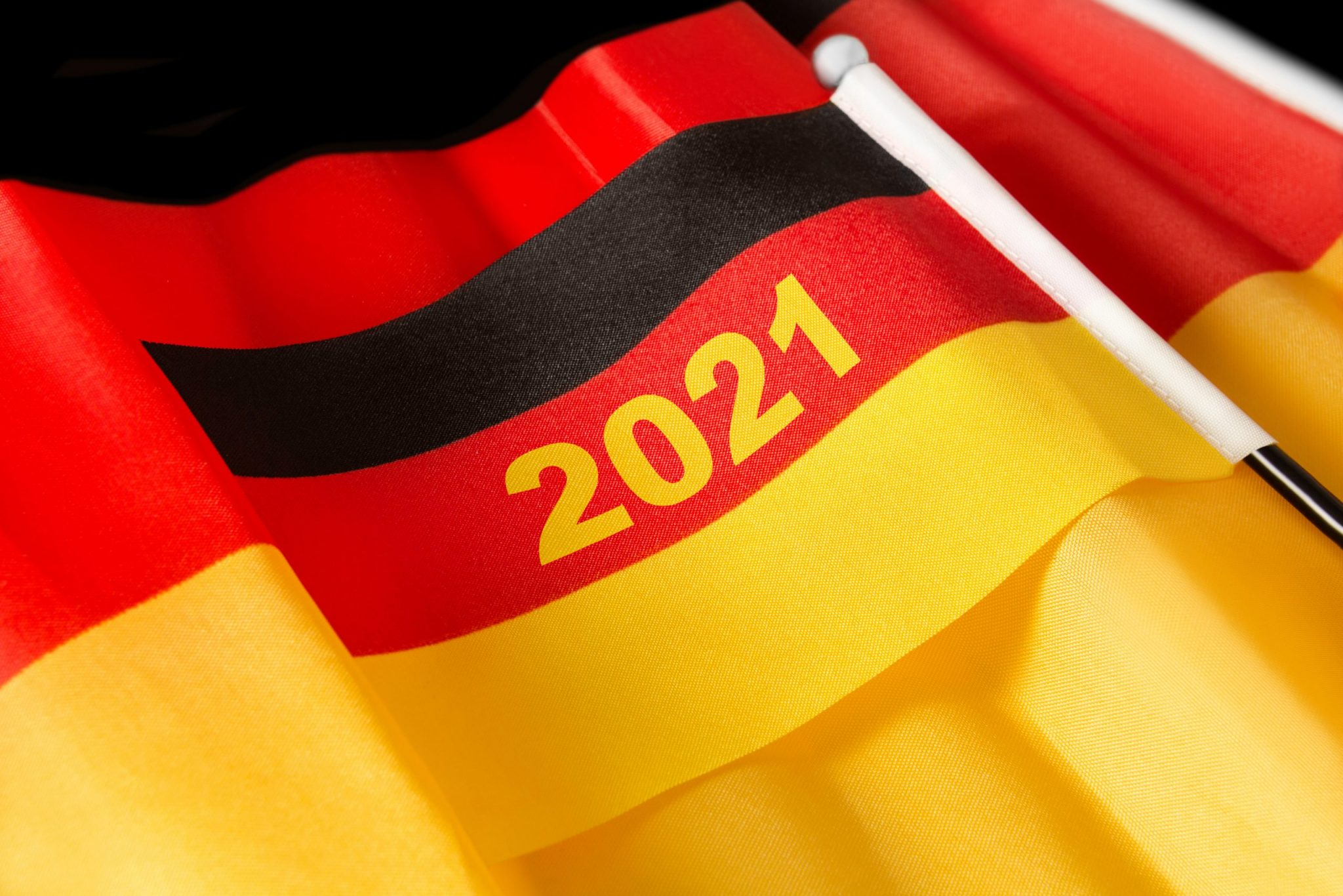 German flag with 2021 written in the middle